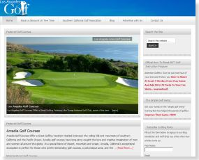 Web Design for LosAngelesGolf.org
