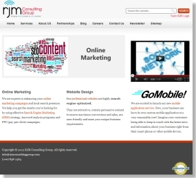 SEO Web Design for RJMConsultingGroup.com