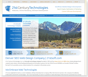 SEO Web Design Denver Case Study
