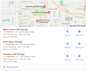 Local 3-Pack SEO Rankings Showing Google Reviews