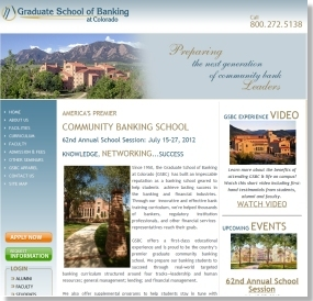 Web Design for the Graduate School of Banking at Colorado