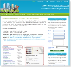 SEO Web Design for LocalCityMarketing.com