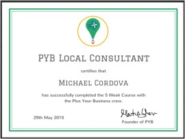 Certified Google Plus Your Business (PYB) Local Consultant